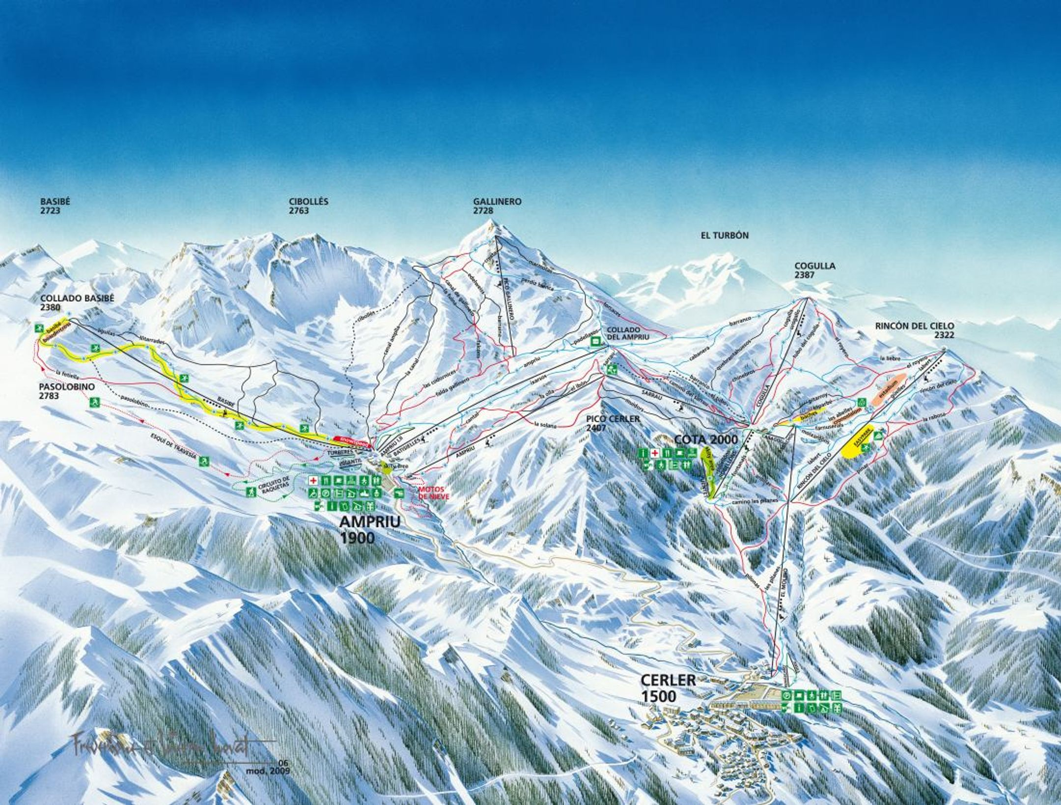 Cerler ski-resort-trail-map Spain ripatrip