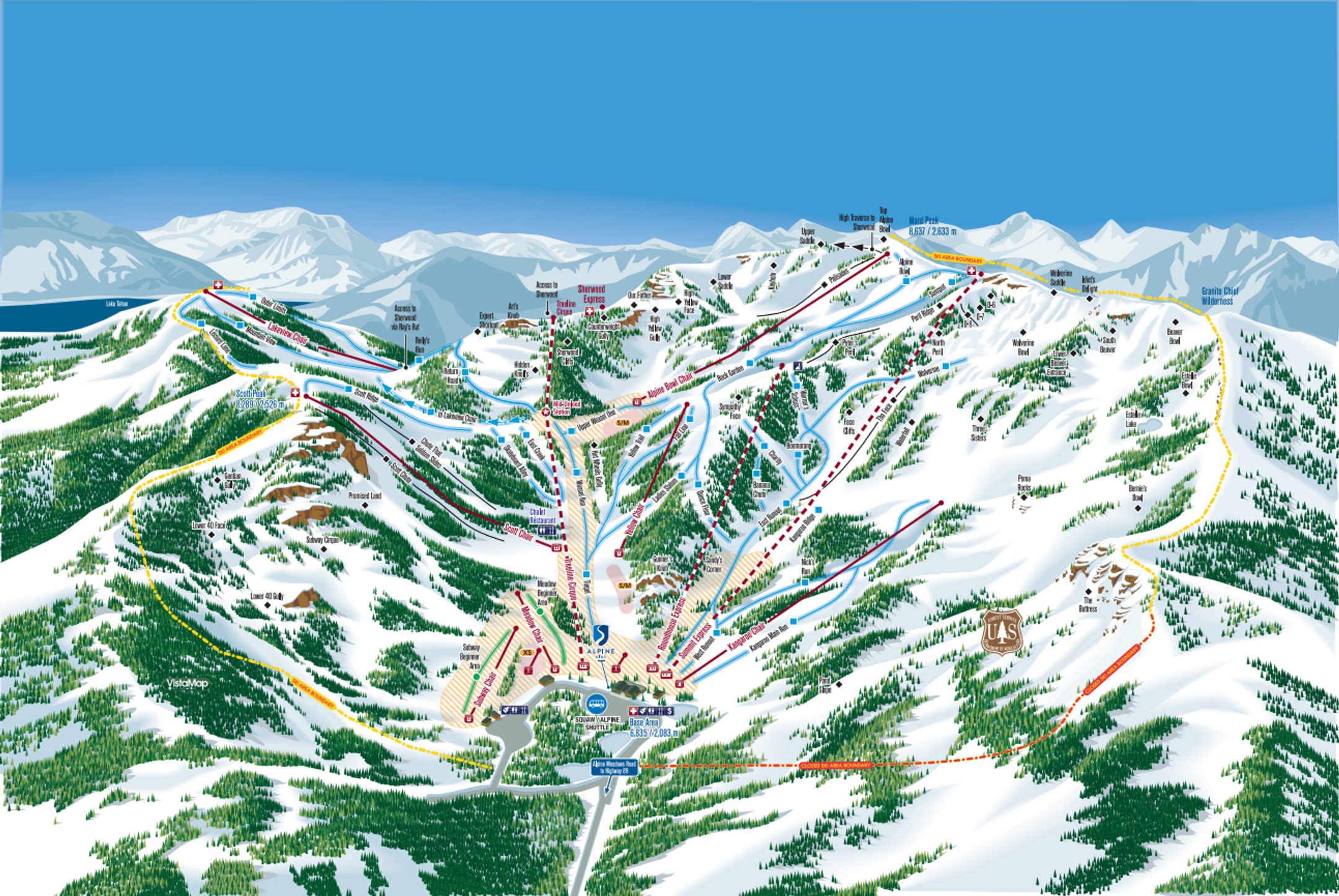 Alpine Meadows ski-resort-trail-map United States ripatrip