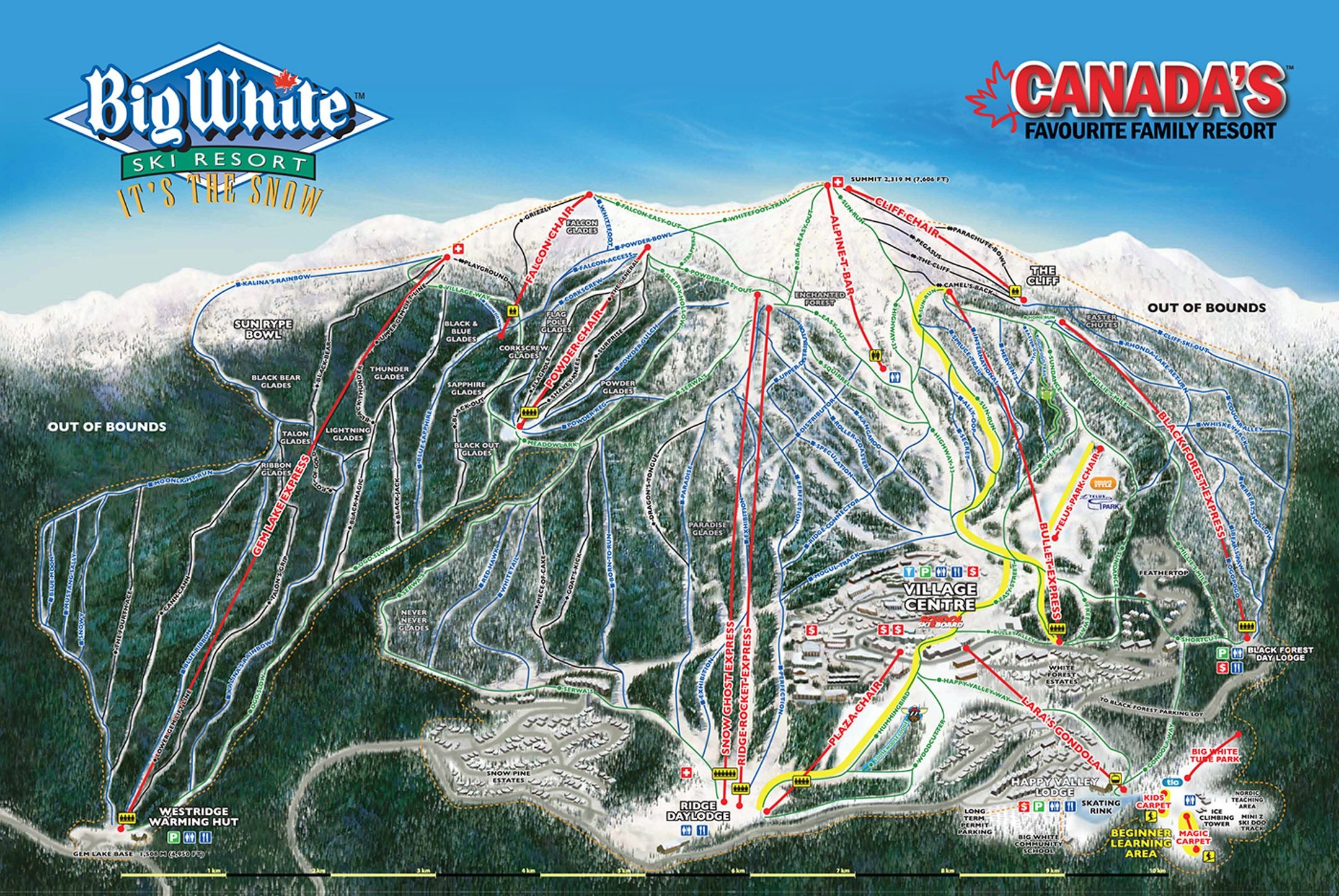 Big White ski-resort-trail-map Canada ripatrip