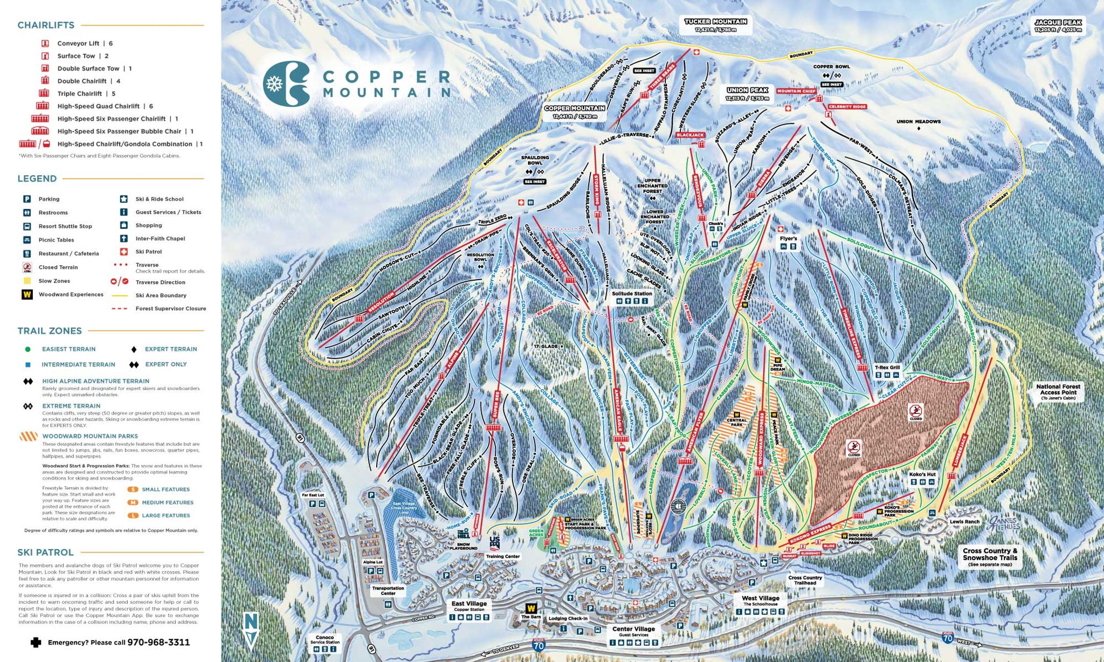 Copper Mountain ski-resort-trail-map United States ripatrip