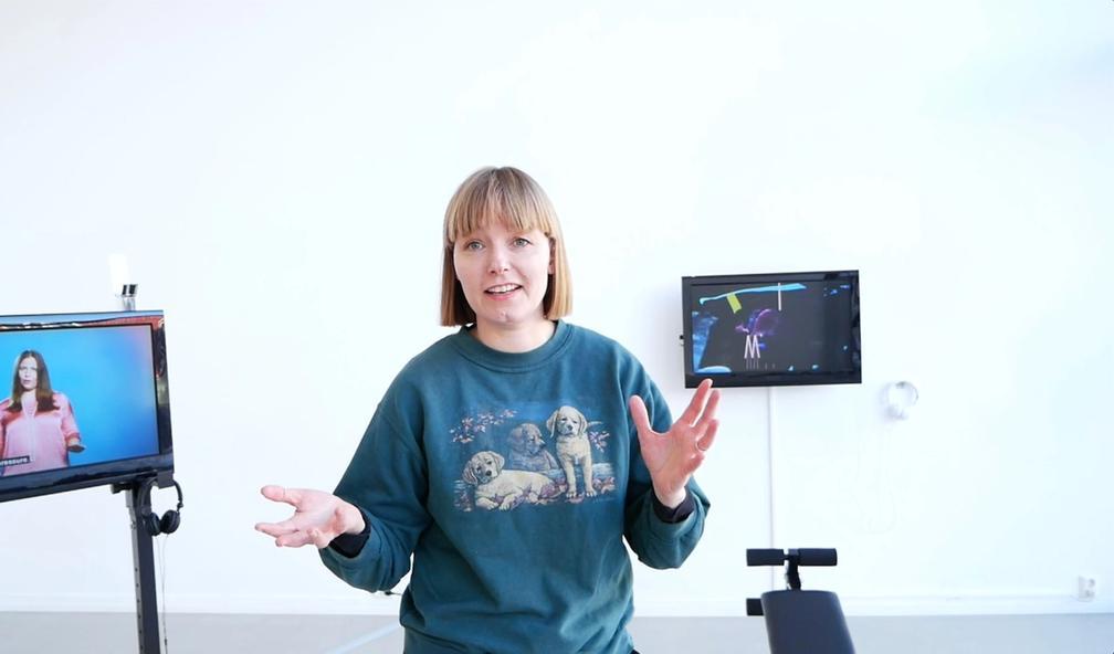 Maren Dagny Juell er en av få kunstnere i Norge som jobber med VR-teknologi