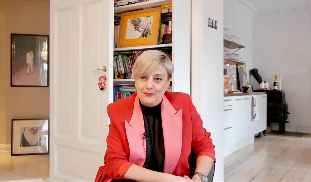 Agnieszka Heiseldal har huset fullt av kunst