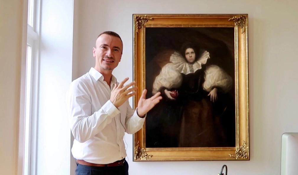 Kjartan Navarsete kjøper kunst gjennom sosiale medier