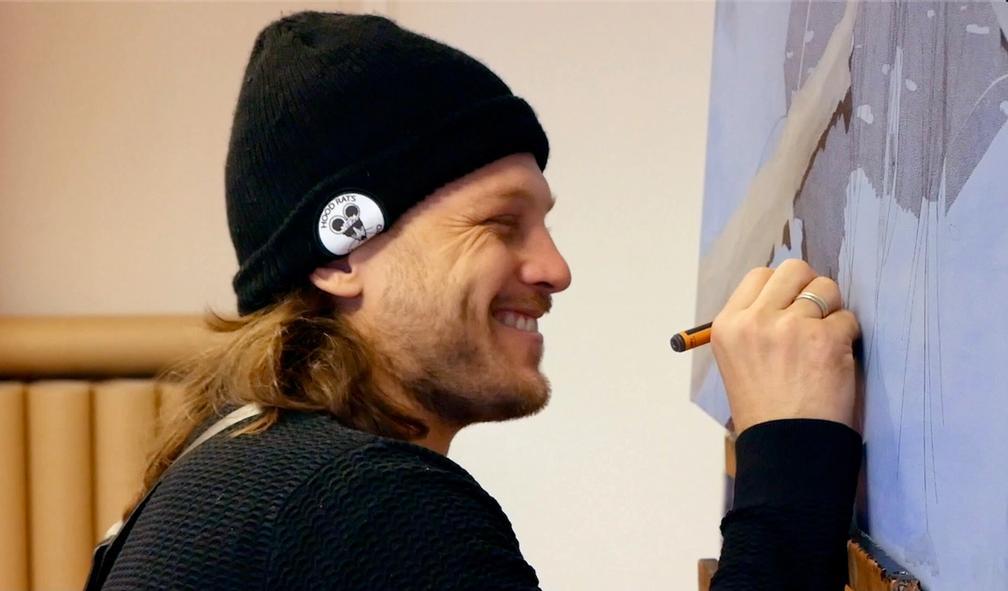 Danny Larsen om veien fra snowboardproff til ettertraktet kunstner