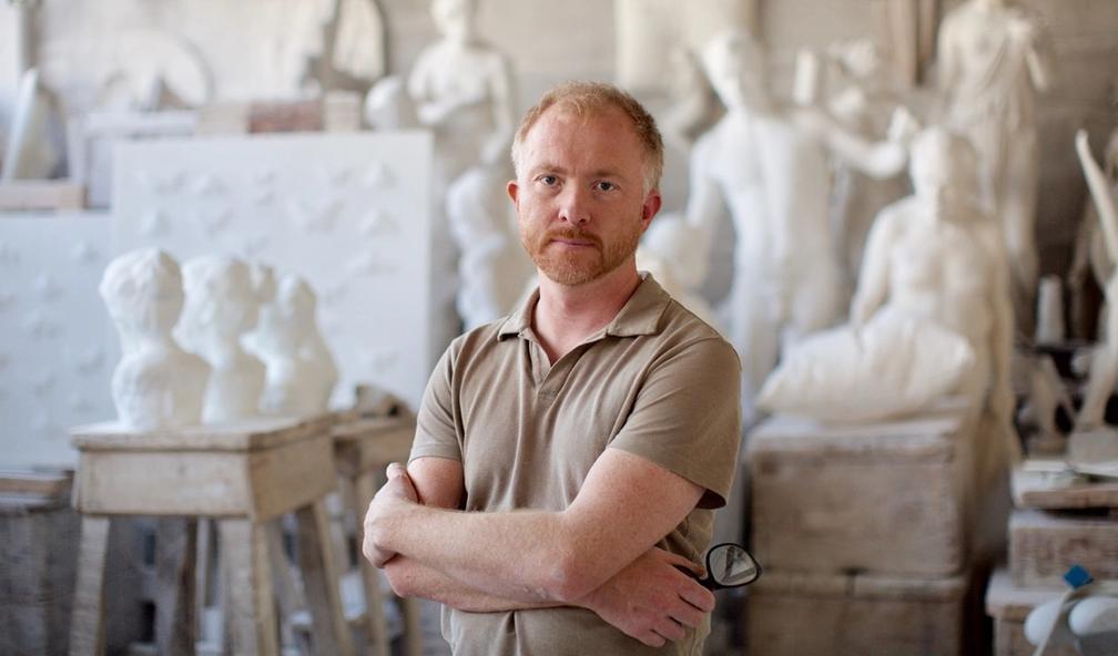 Håkon Fagerås lager nydelige marmorskulpturer