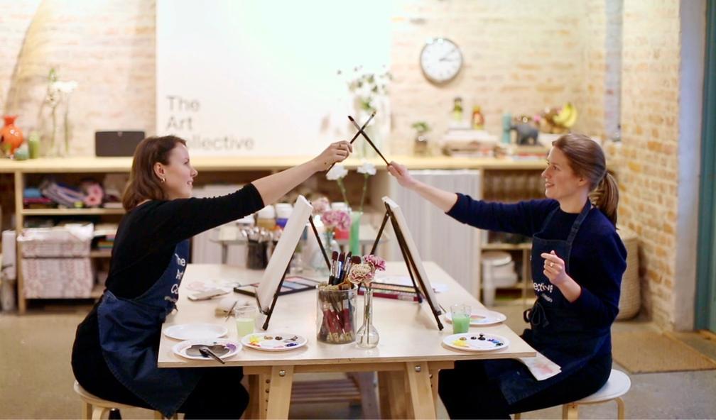 Den store maleduellen hos The Art Collective