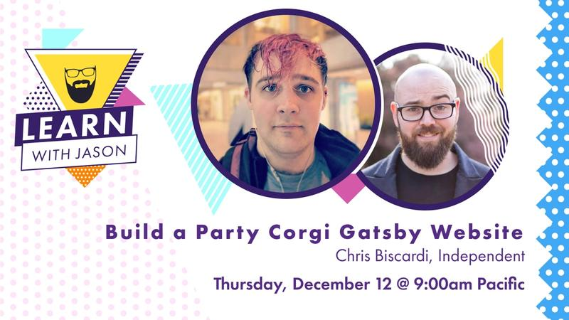 Build a Party Corgi Gatsby Website