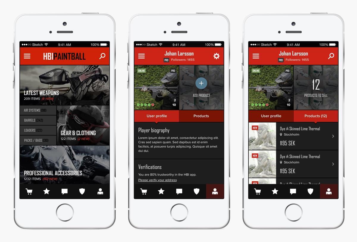 HBI app profile