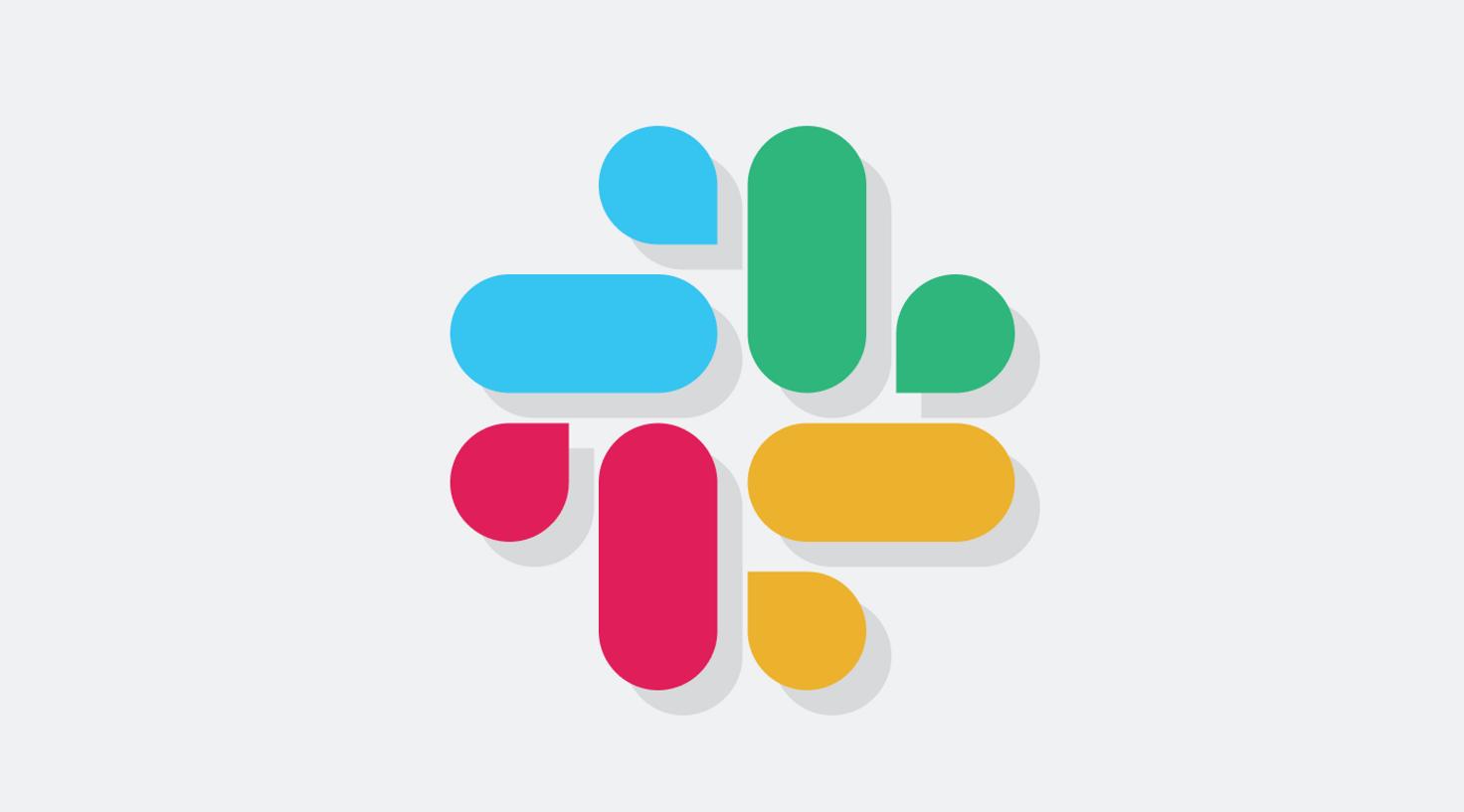 Image with Slack logo on light grey background