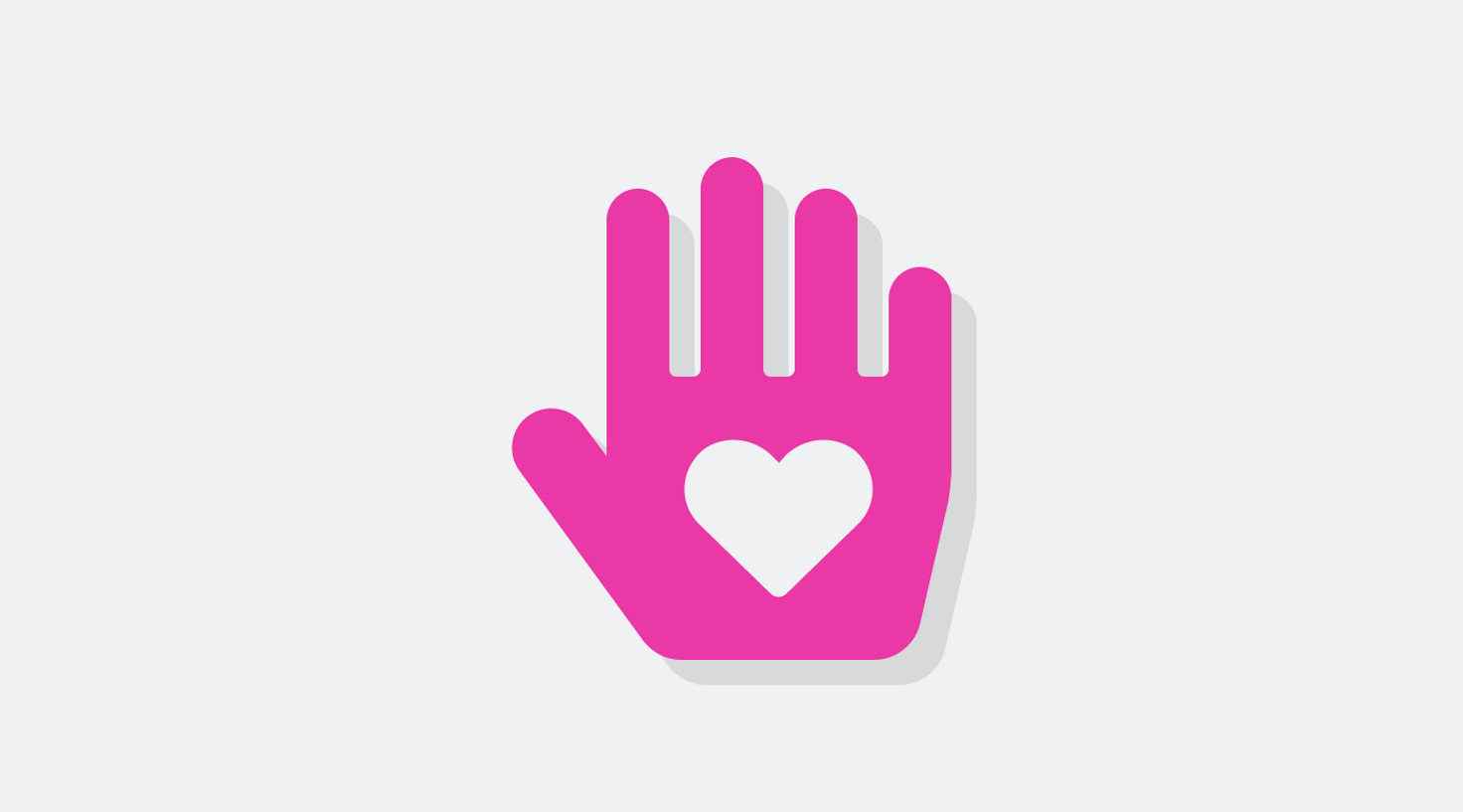 Icon of a hand with a heart in its palm