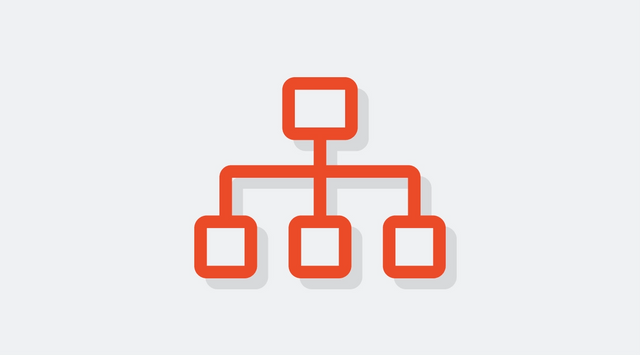 An icon representing organizational and team structures.