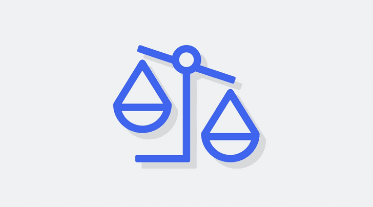 An icon of a scale to imply balancing and weighing decisions.