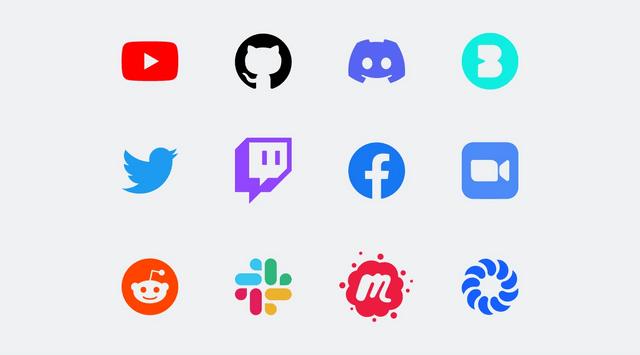 12 logos of community platforms on a light grey background