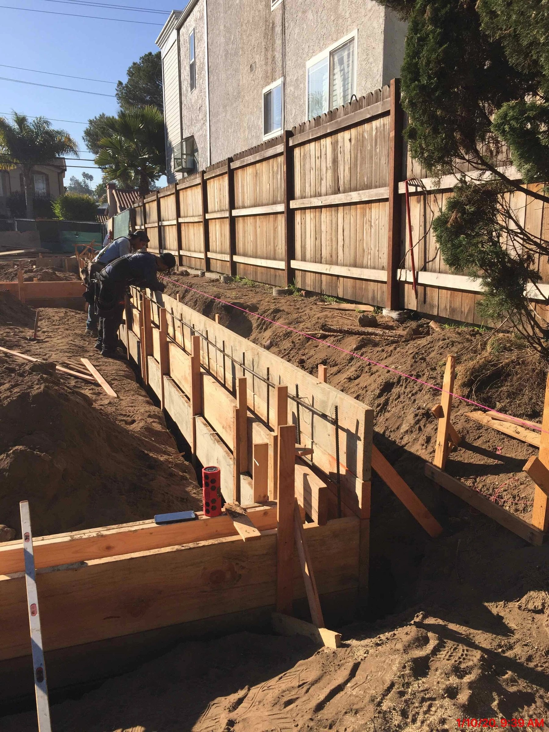 Slab foundation forms