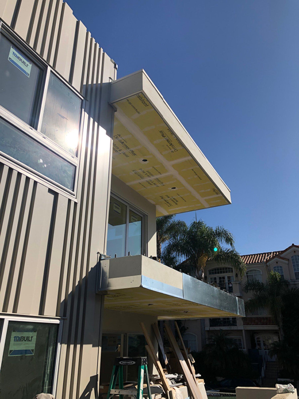 East-facing facade