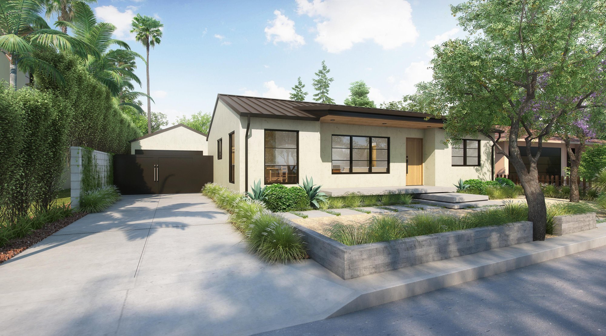 A newly refreshed California bungalow