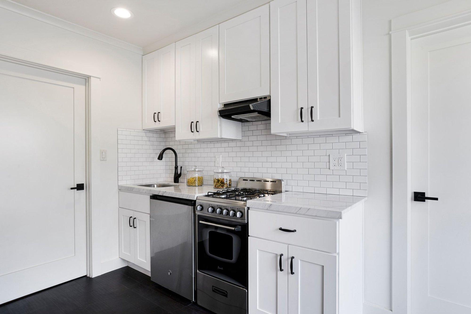 Compact ADU kitchen