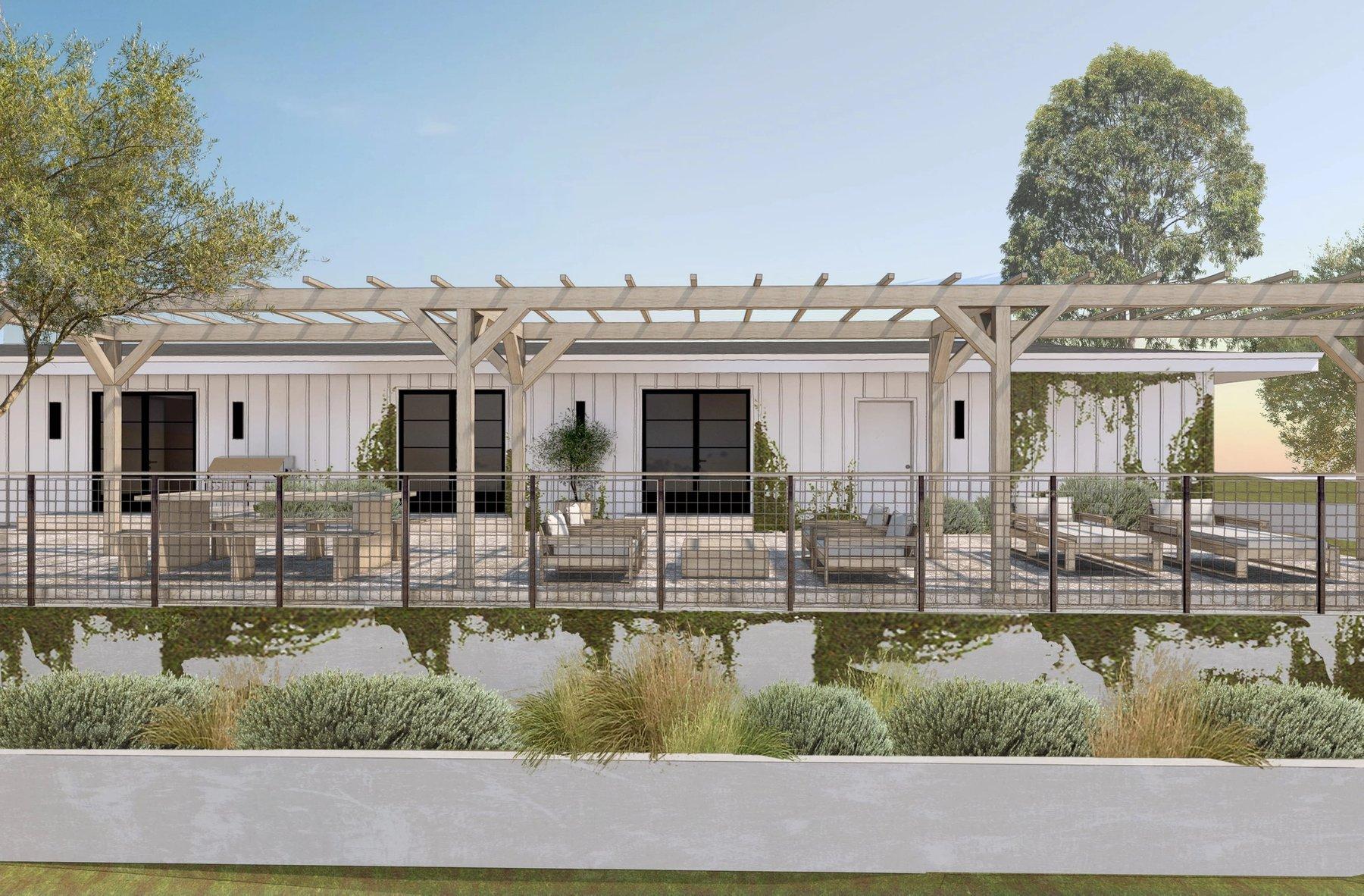Terraced veranda off the bedroom patios