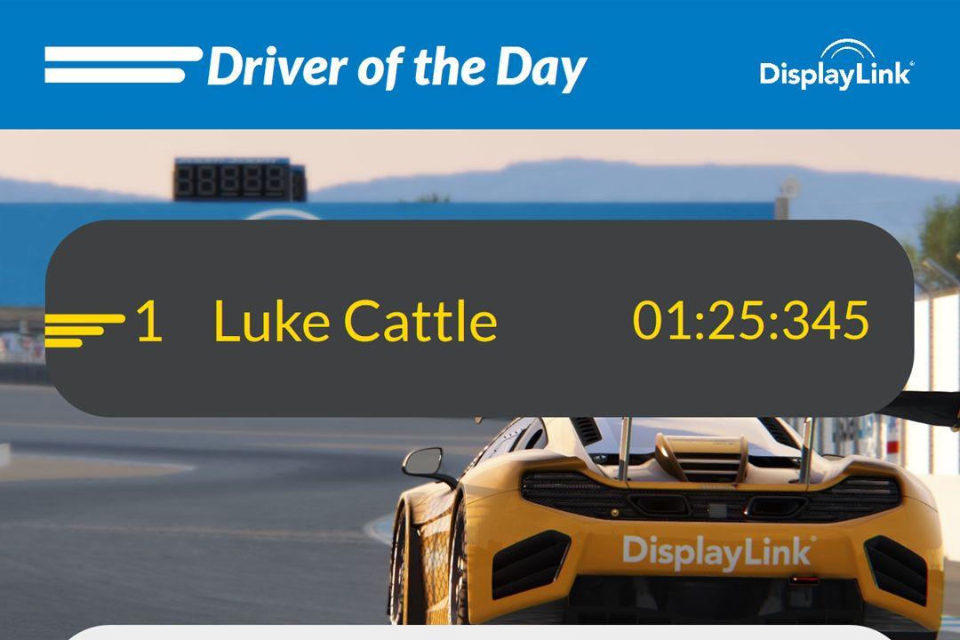 Screenshot of DisplayLink Racing Simulator page