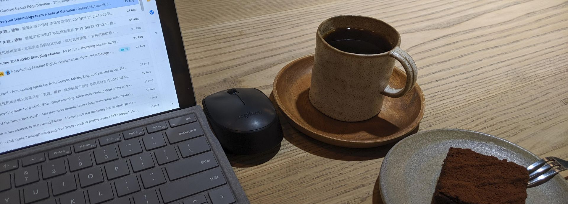 Cover image - Image of working remotely from a cafe