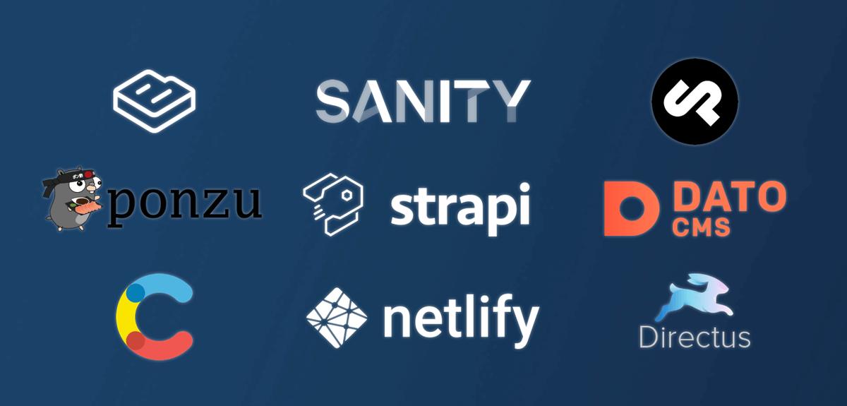 HeadLess CMS Services: Contentful, Netlify, Sanity.io, Strapi, Data CMS, Ponzu, Directus