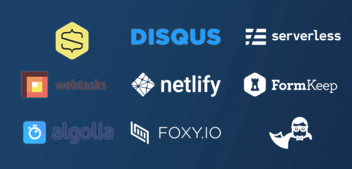 Added functionalities/third-party services/SaaS - The current API economy and explosion in SaaS offers an interesting à la carte approach. In other words, you can cherry pick the dedicated external services you need and adopt a truly modular development stack. Disqus, Netlify for rapid hosting and deployment, Algolia site search engine, Snip Cart a e-commerce store, and Serverless functions via Amazon Lambda.