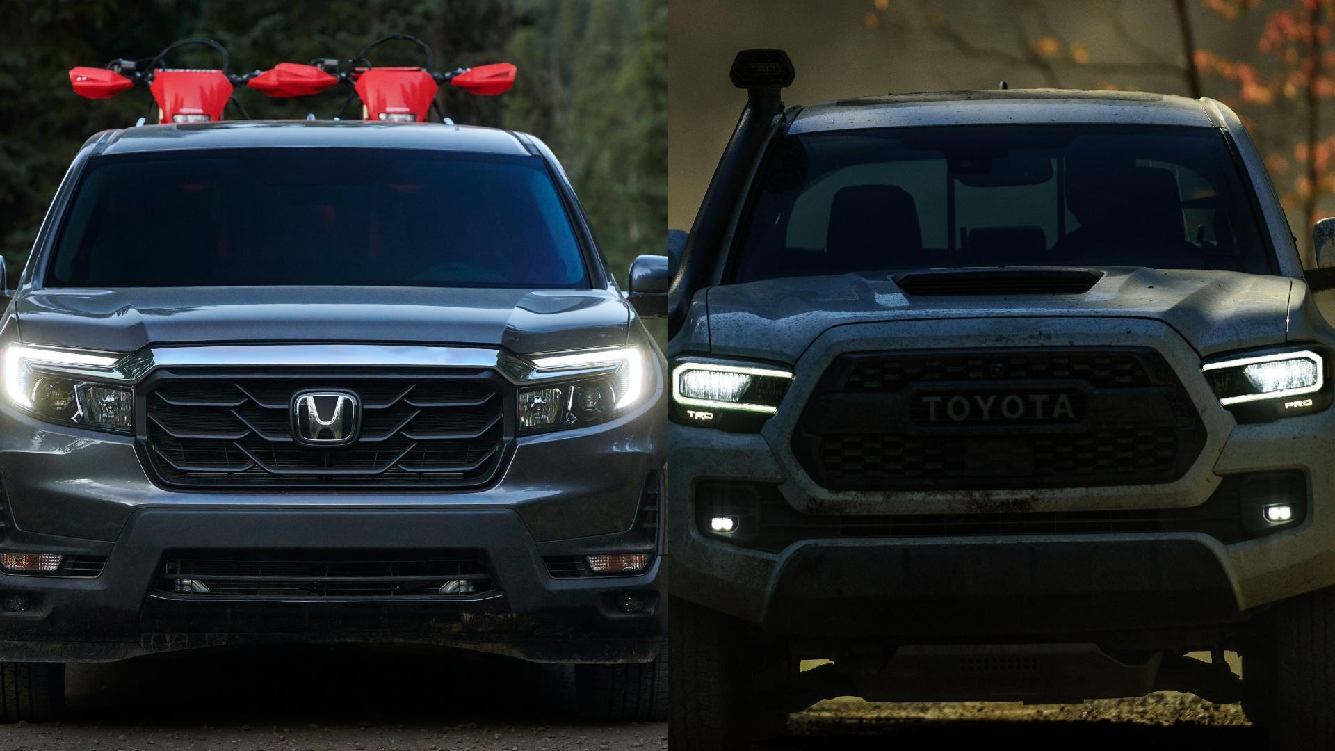 Honda Ridgeline vs Toyota Tacoma