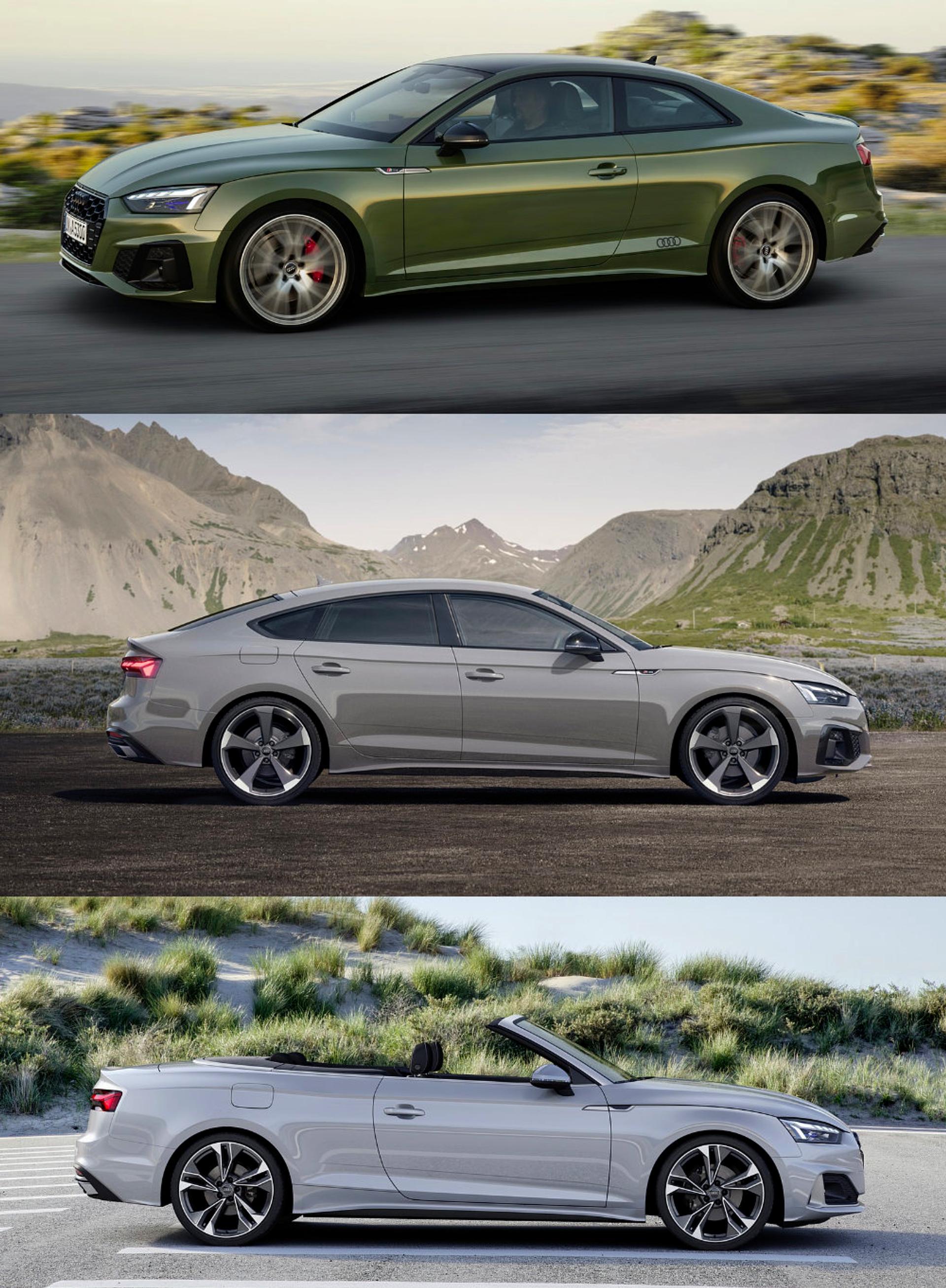 Audi A5 body type availability