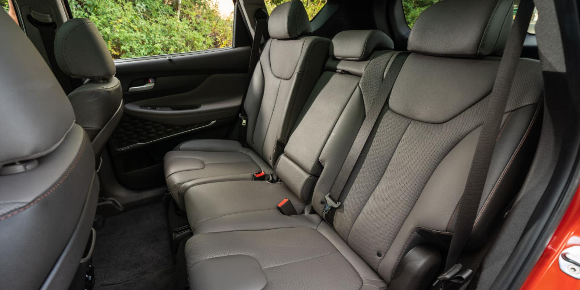 Hyundai Santa Fe rear seats