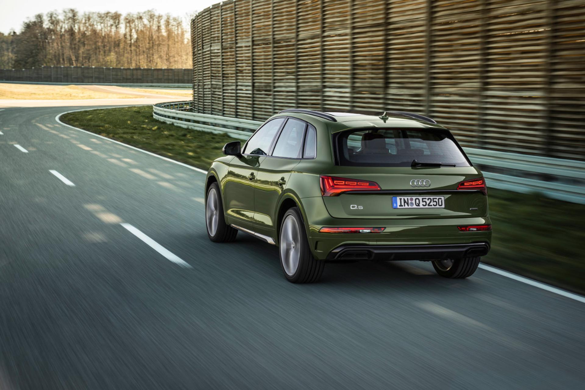 Audi Q5 driving rear view