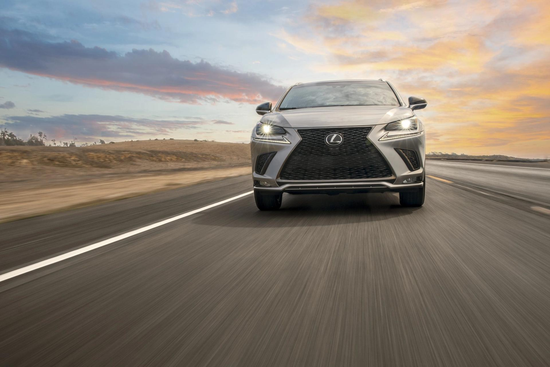Lexus NX driving on the road