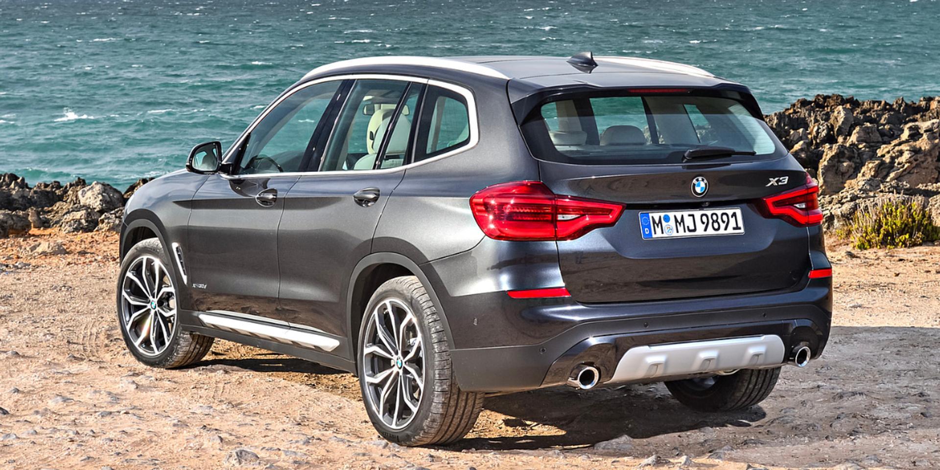 BMW X3 rear view