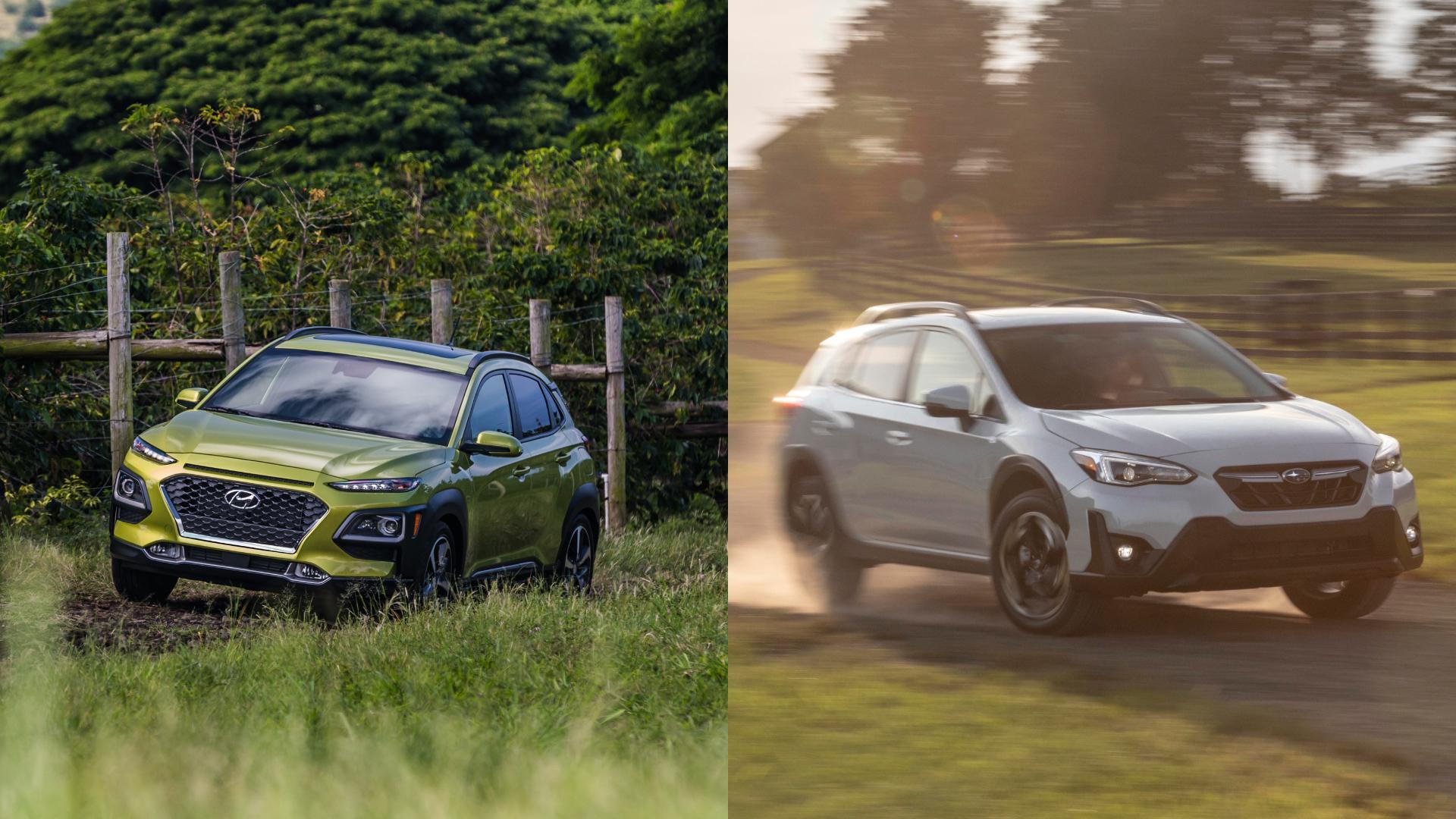 Hyundai Kona vs Subaru Crosstrek