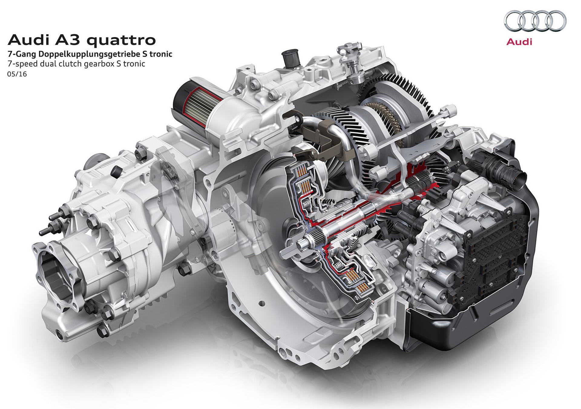 Audi A3 quattro engine render
