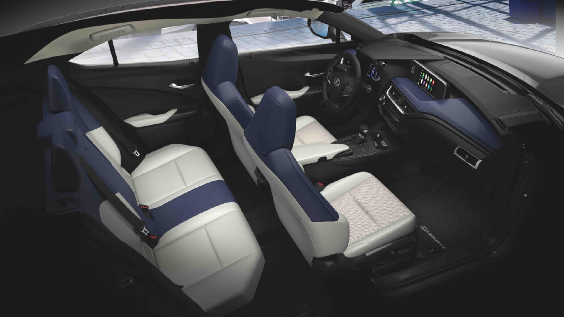 Lexus UX seating layout