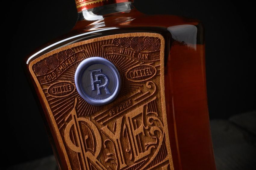 Rye Patch Whiskey Wooden Label