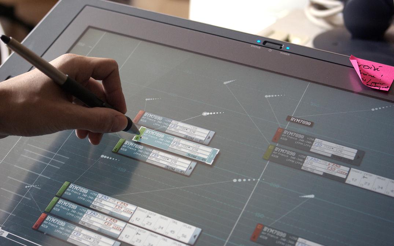 Interface tactile avec stylet sur écran Wacom cintiq 21 UX