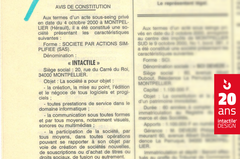 Création Intactile, agence de design à Montpellier