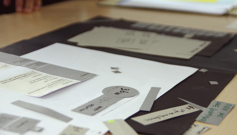 Maquette papier UX design