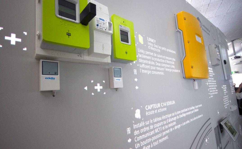 Mur d'objets interactifs