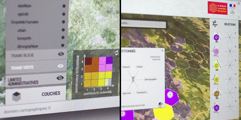 Design interface UX/UI cartographie