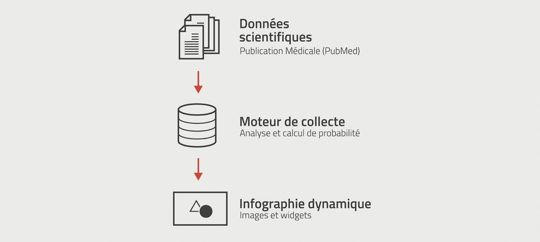 Schéma de principe, interface de visualisation dynamique