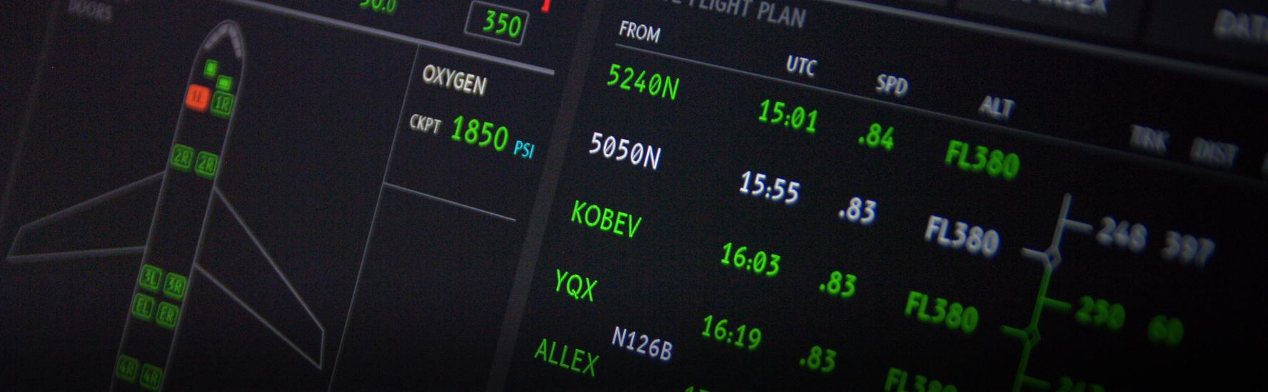 Typographie aéronautique pour Airbus