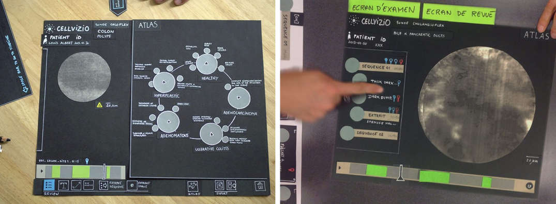 Interface maquette papier mock up