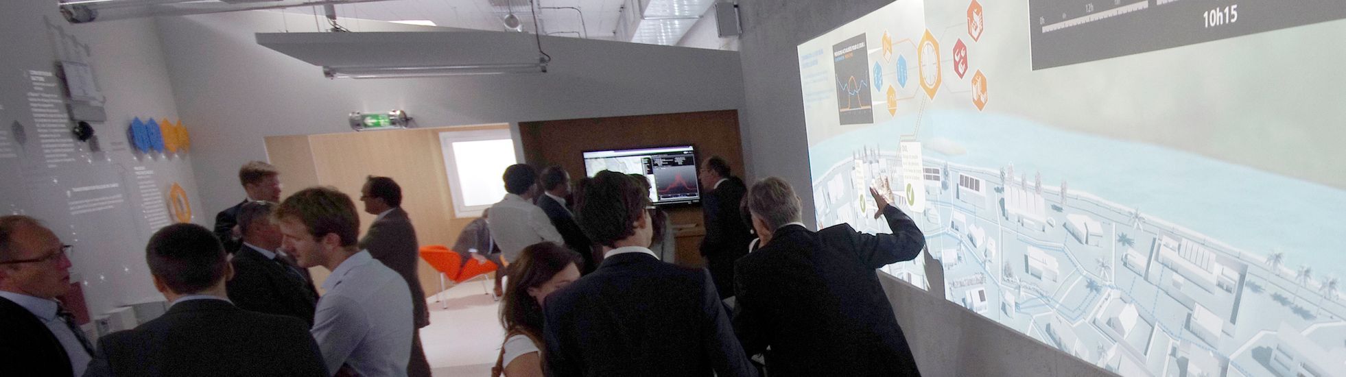Scénographie showroom interactif