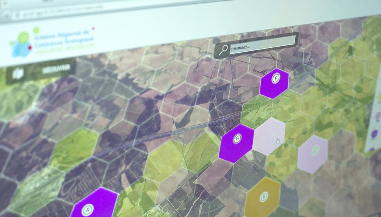 UI design interface cartographie