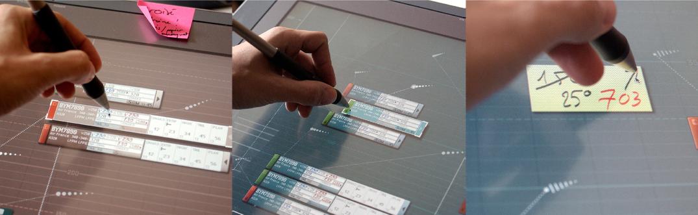 Saisie manuelle et feedbacks sur écran tactile avec stylet