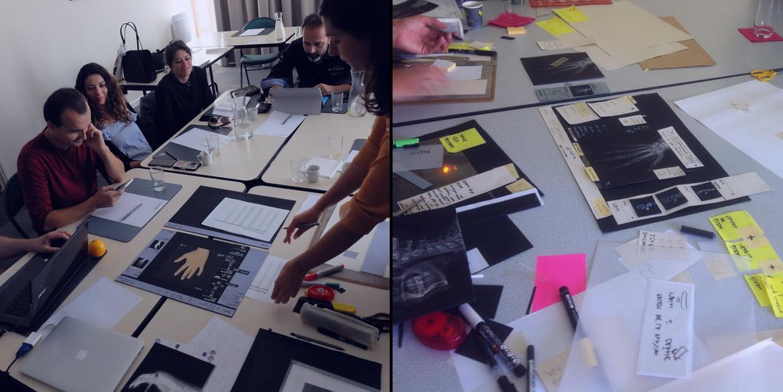 Séance de conception participative avec maquette papier