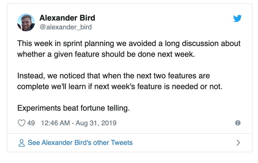 tweet sprint planning