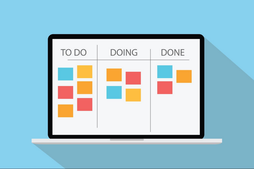 Illustration of a project management board